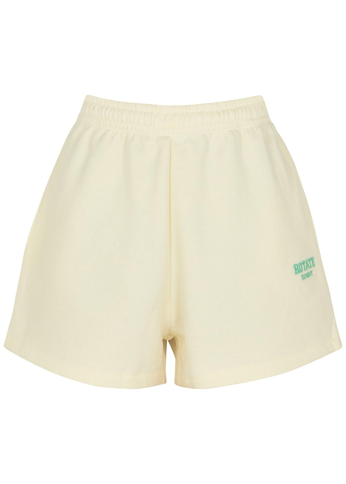 Roda cream logo cotton shorts: image 1