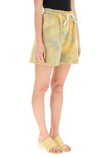Msgm Tie-dye Shorts With Micro Logo: image 1