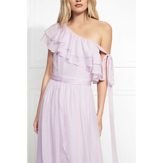 Susanna One Shoulder Ruffled Maxi Gown: image 1