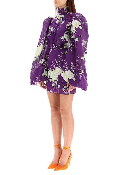 The Attico Floral Mini Dress