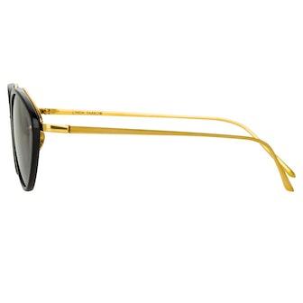 Lucy Cat Eye Sunglasses in Black
