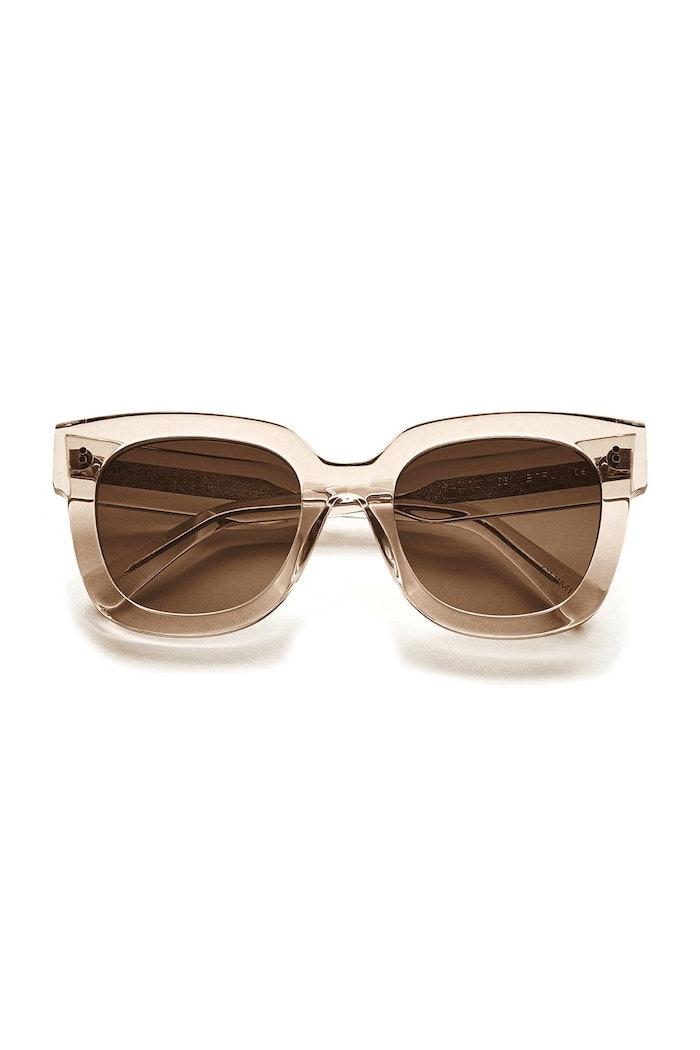 #008 Black Sunglasses in Ecru: image 1