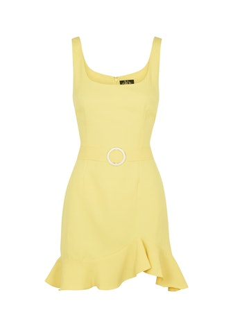 Christabel yellow belted mini dress: image 1