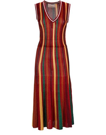 Accordion Knit Dress: image 1