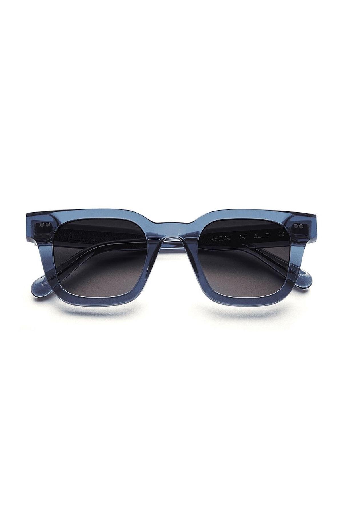 #004 Black Sunglasses in Blue: image 1
