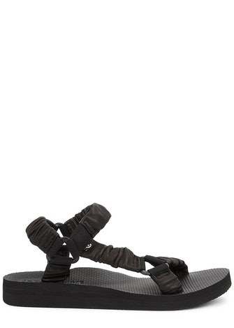 Trekky black leather sandals: image 1