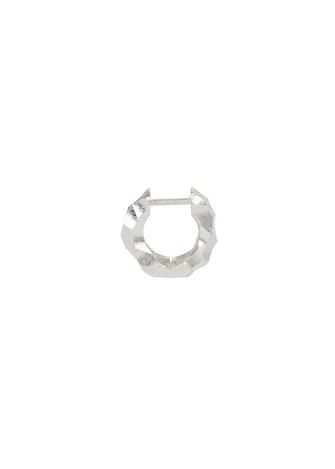 Almost sterling silver single hoop earring: image 1