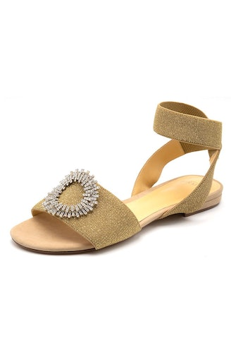 Madelina Elastic Sandal in Nude/Gold/Silver: image 1