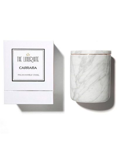 Carrara Marble Candle Holder: image 1