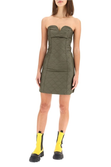Ganni Mini Dress In Ripstop Nylon: additional image