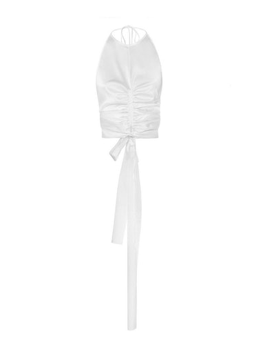Ruched Silk Camisole Top: additional image