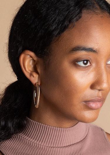 Uzi Hoop Earrings: additional image