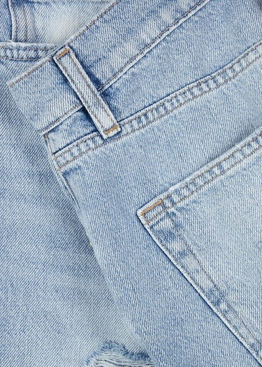Le Slouch Bermuda distressed denim shorts: additional image