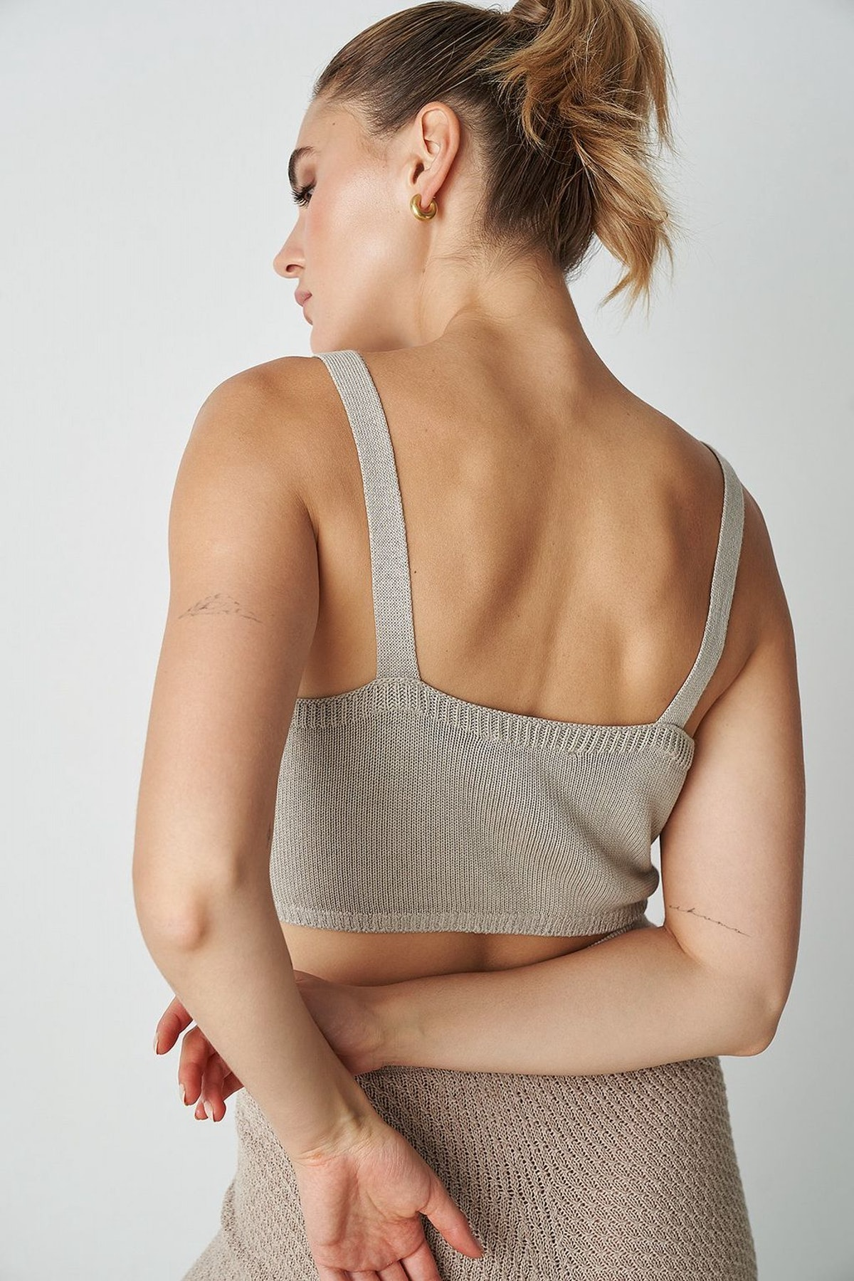 Knitted Wide Strap Bralette: additional image