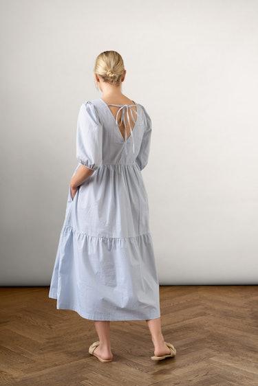 Bon Cotton Dress Blue: additional image
