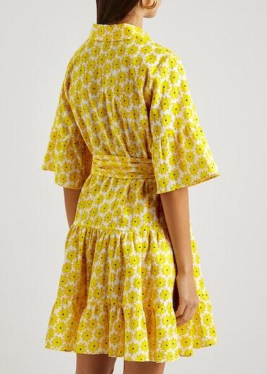 Beata floral-print cotton mini dress: additional image