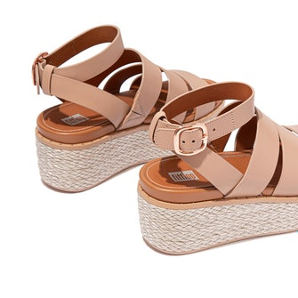 ELOISE - Espadrille Leather Wedge Sandals: image 1