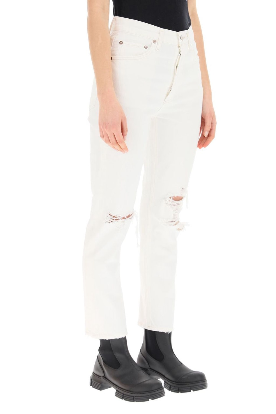 Agolde Riley High Rise Straight Crop Jeans: additional image