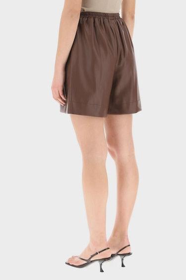 Staud Clark Shorts In Vegan Leather: additional image