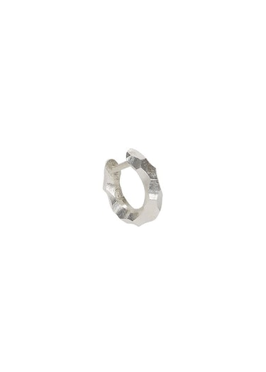 Almost sterling silver single hoop earring: additional image