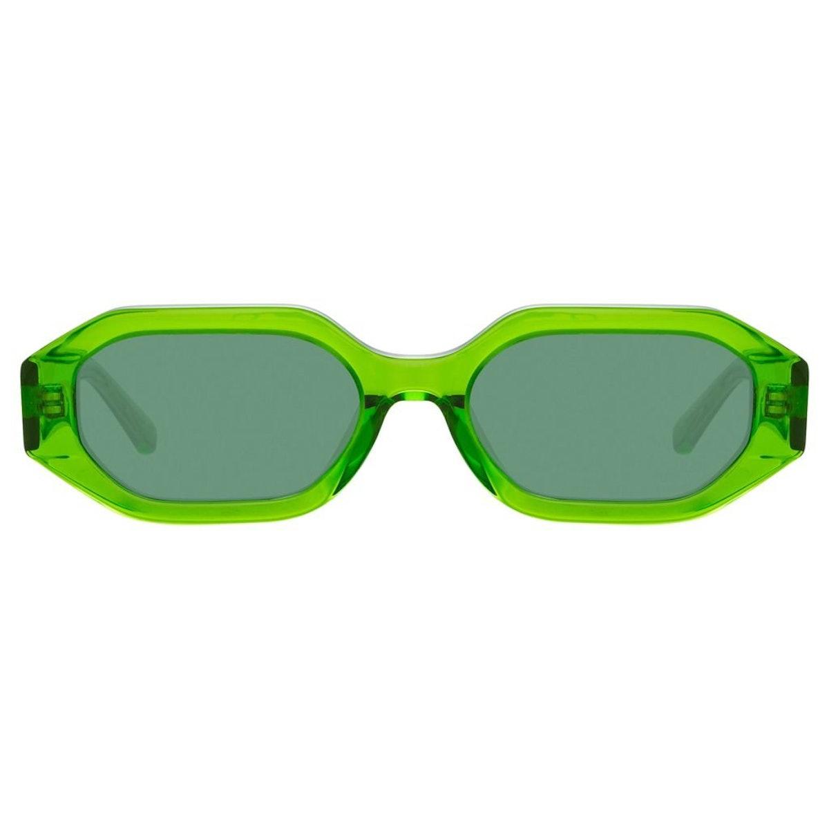 The Attico Irene Angular Sunglasses in Green: additional image