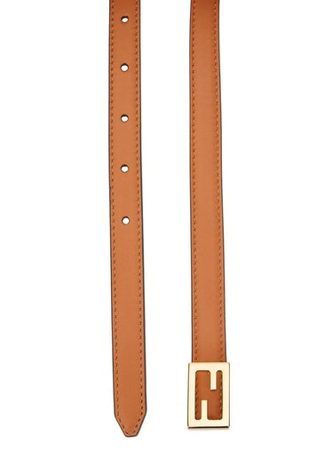 Brown logo leather wrap belt: additional image