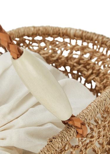 Blando woven abaca tote: additional image