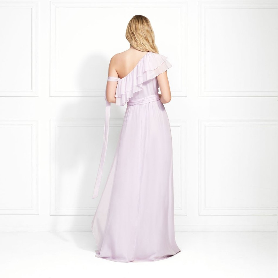 Susanna One Shoulder Ruffled Maxi Gown: additional image