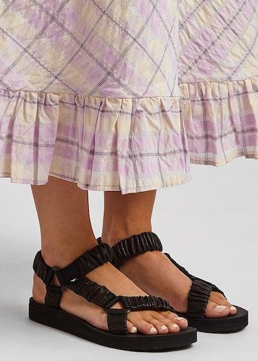 Trekky black leather sandals: additional image
