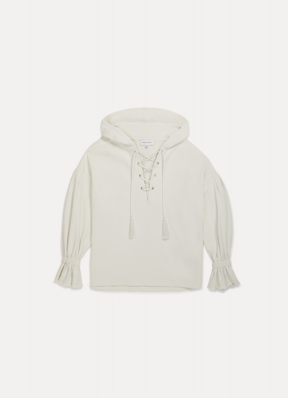 Sophia Lace-Up Hoodie: additional image
