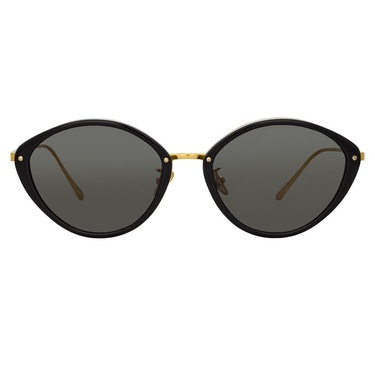 Lucy Cat Eye Sunglasses in Black: additional image