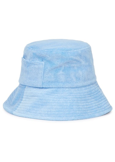 Wave blue terrycloth bucket hat: additional image