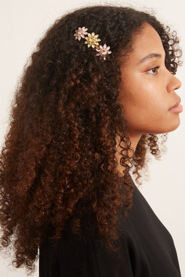 Utopia Hair Comb in Yellow/Rose: additional image