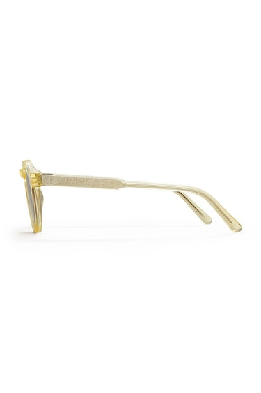 #003 Clear Sunglasses in Yellow: additional image