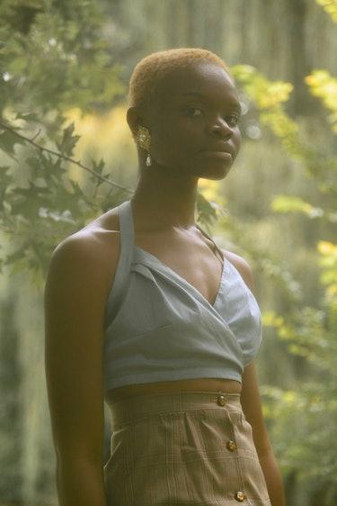 Glamour Girl Silk Halter Top: additional image