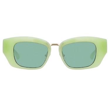 Dries Van Noten 202 Round Sunglasses in Green: additional image