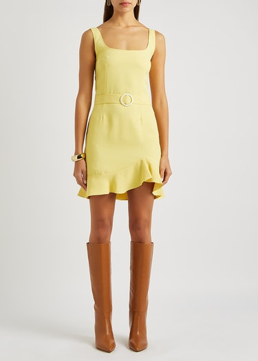 Christabel yellow belted mini dress: additional image