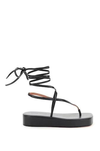 Amina Muaddi Flatform Sandal Jamie: image 1