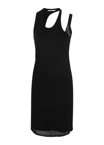 Black fine-knit mini dress: image 1