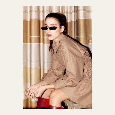 Linda Farrow Issa C1 Rectangular Sunglasses: image 1
