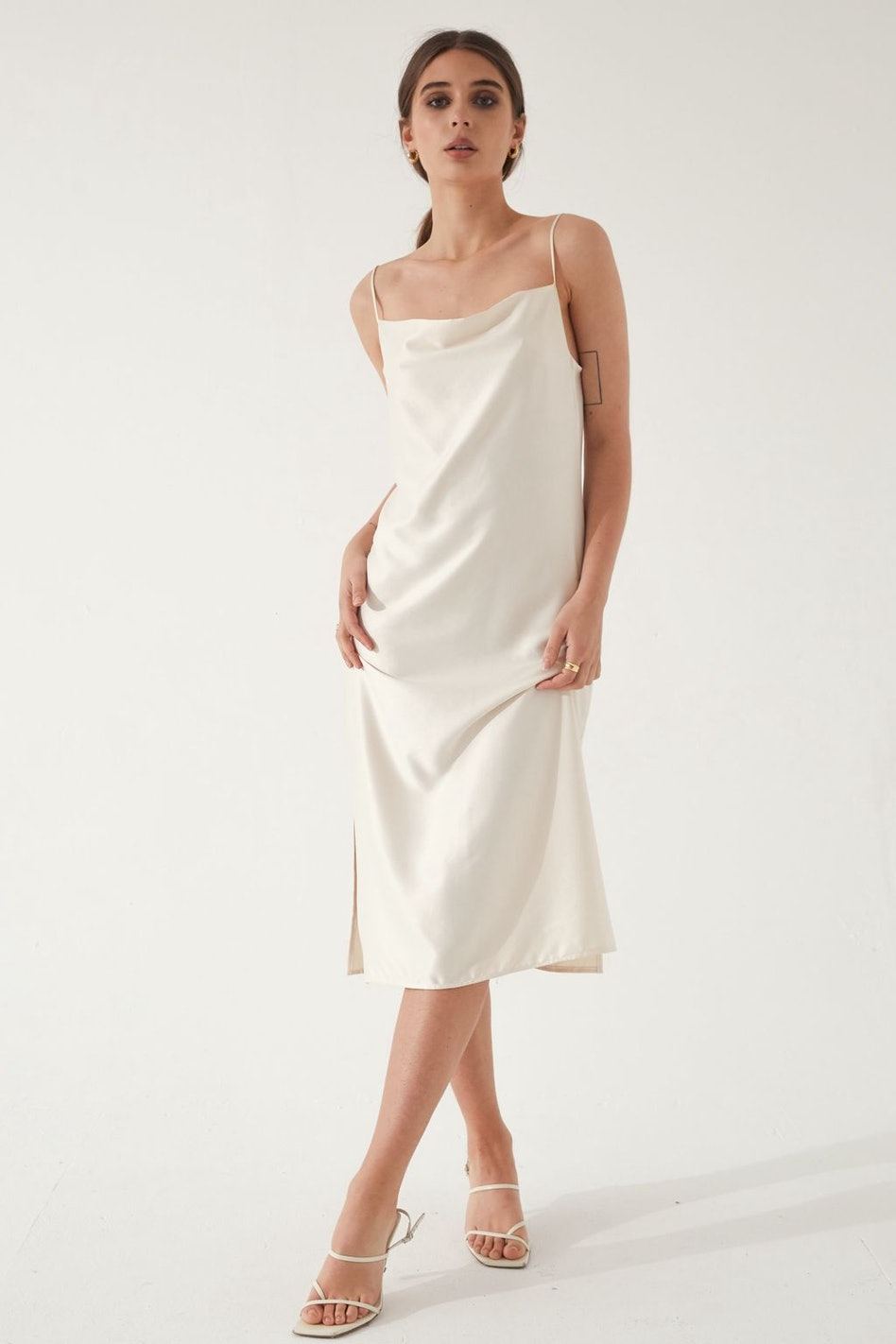 Draped Slip Dress: additional image