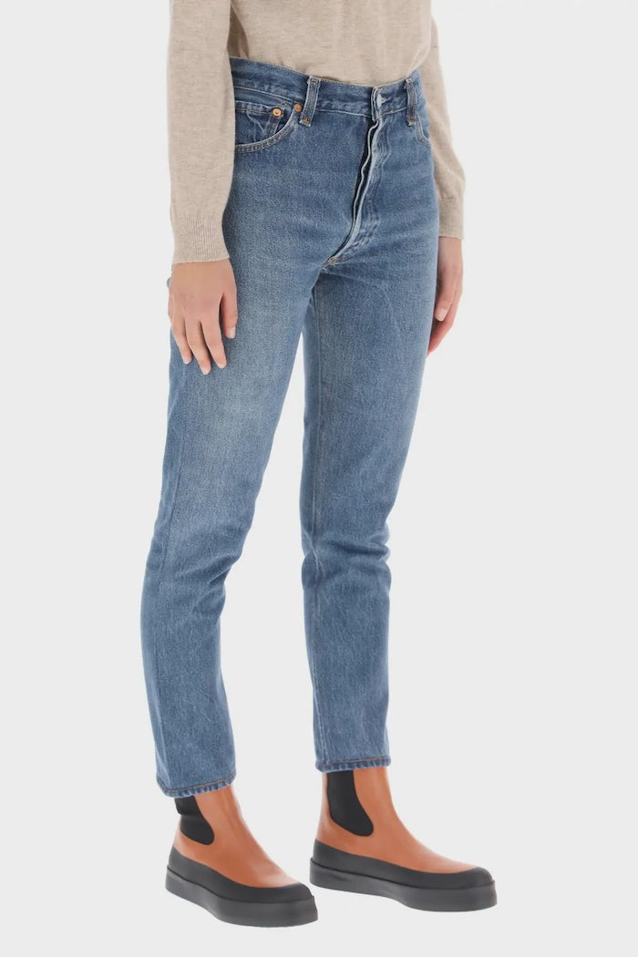 Re/done High Rise Jeans Ankle Crop X Levi's: image 1