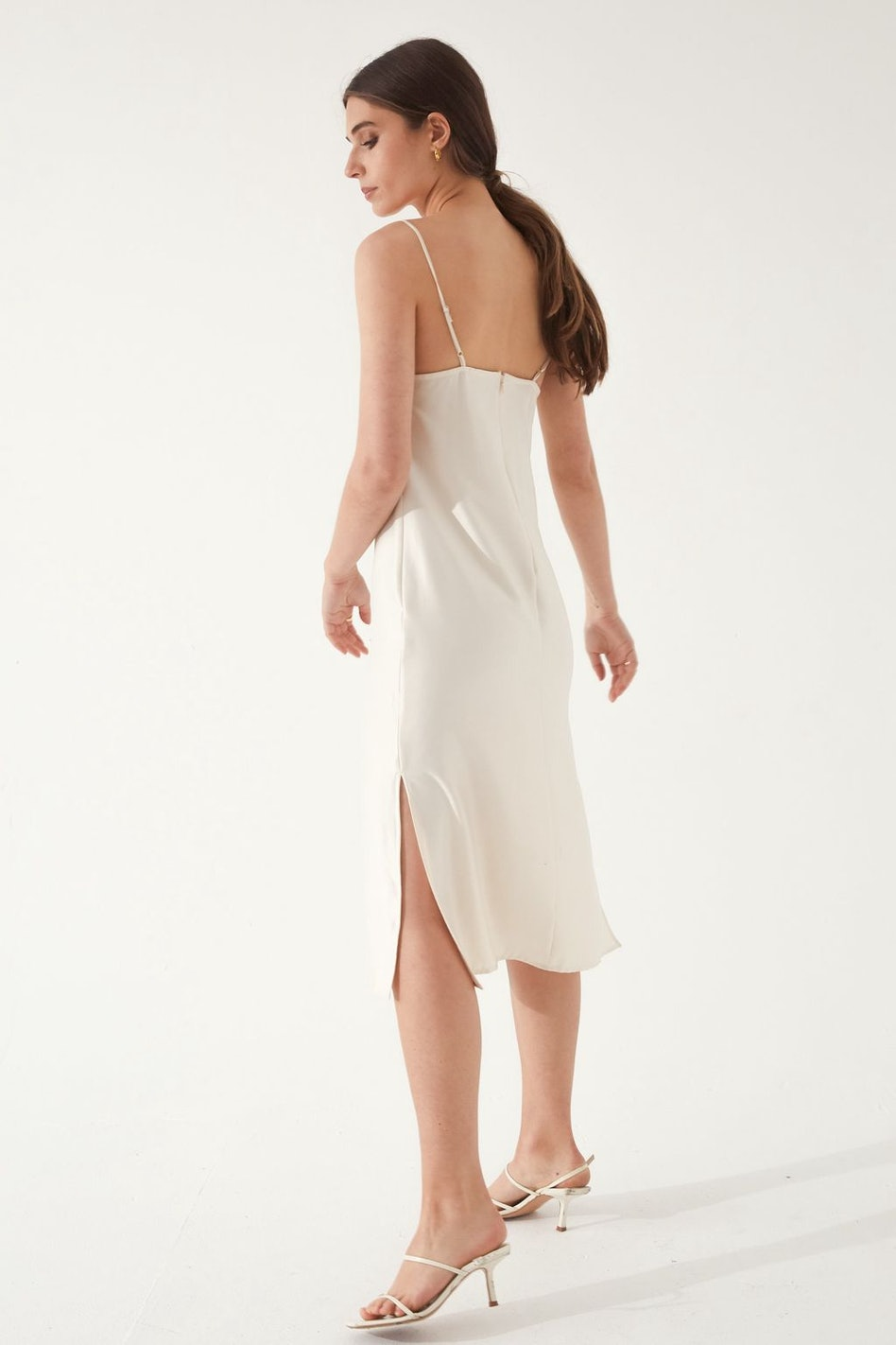 Draped Slip Dress: image 1