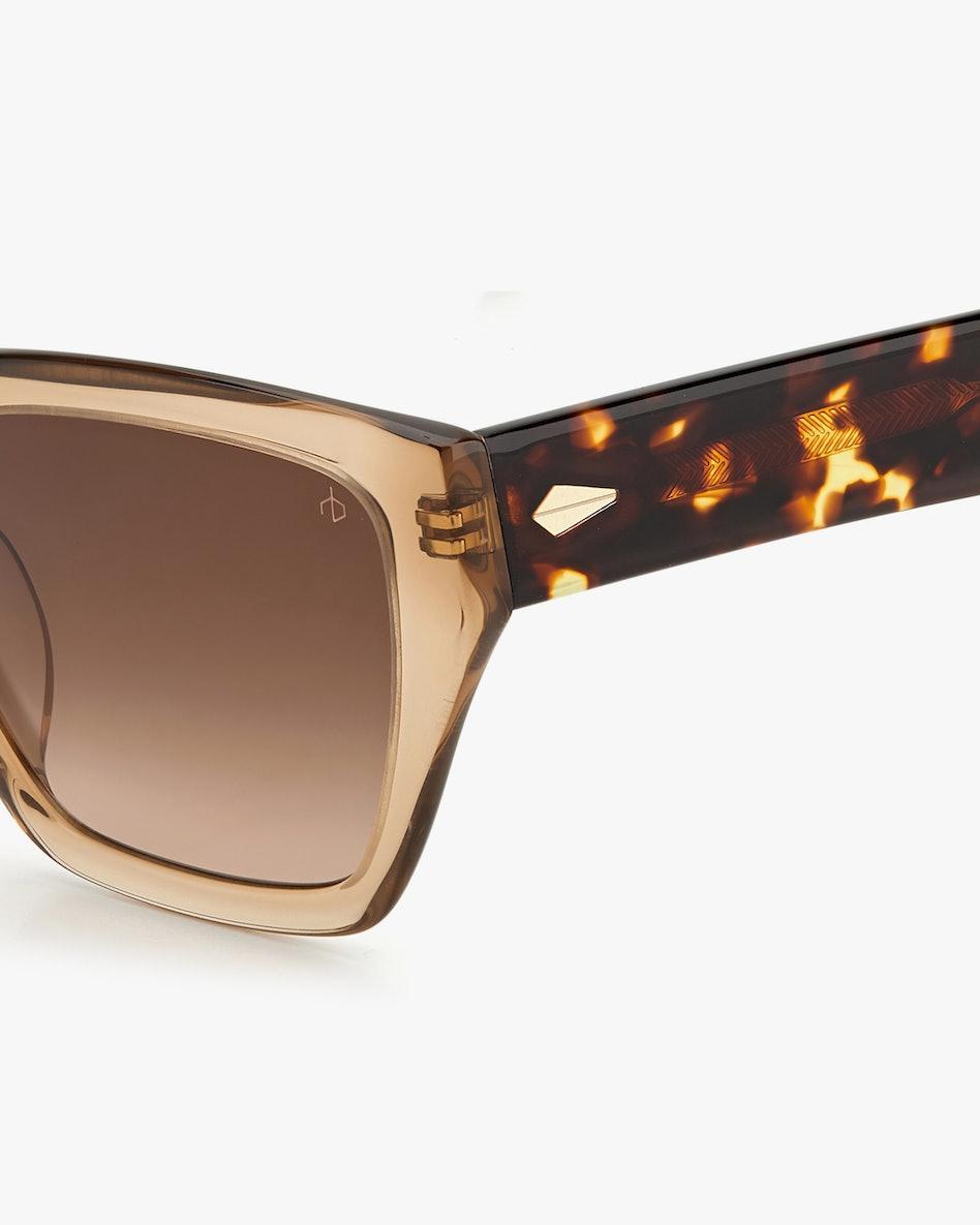 Beige Havana Cat-Eye Sunglasses: additional image