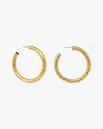 Textured Hoop Earrings: image 1