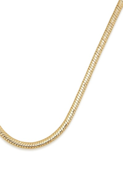 Mavi 14kt gold-dipped chain necklace: image 1