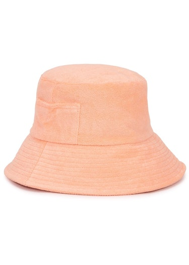 Wave peach terrycloth bucket hat: additional image