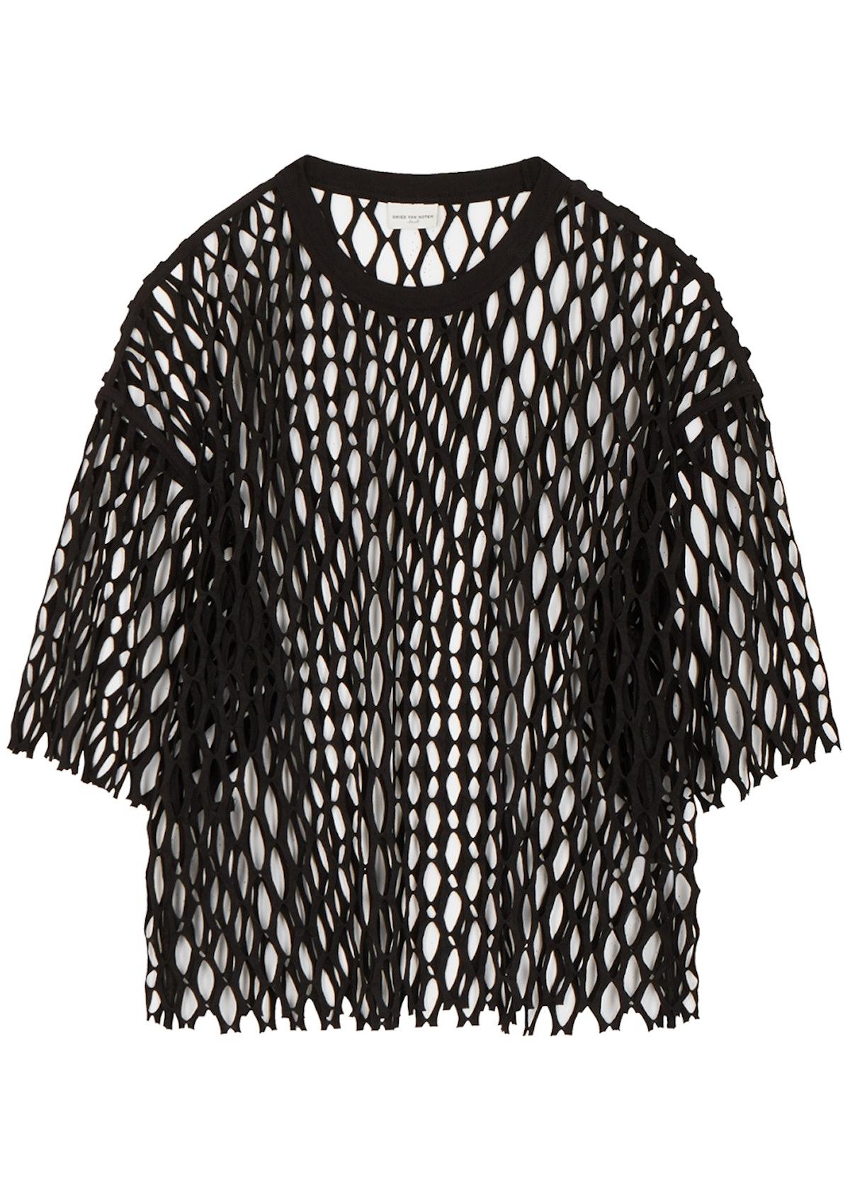Henand black jersey-mesh T-shirt: image 1