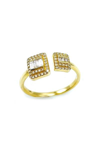Adjustable Baguette Ring in 14k Gold: image 1