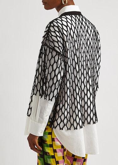Henand black jersey-mesh T-shirt: additional image